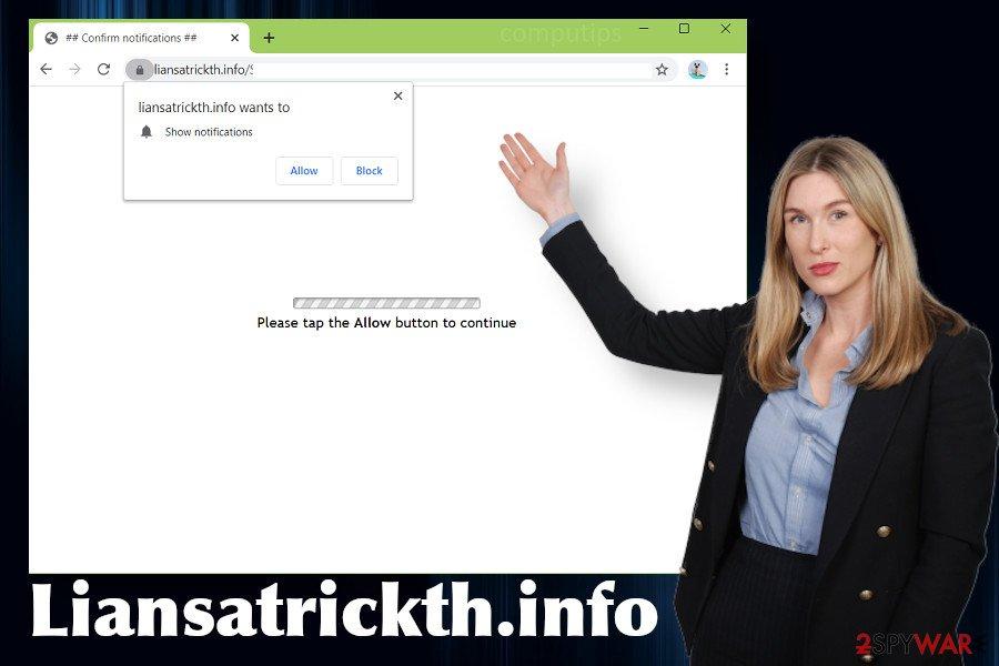 Liansatrickth.info redirect virus