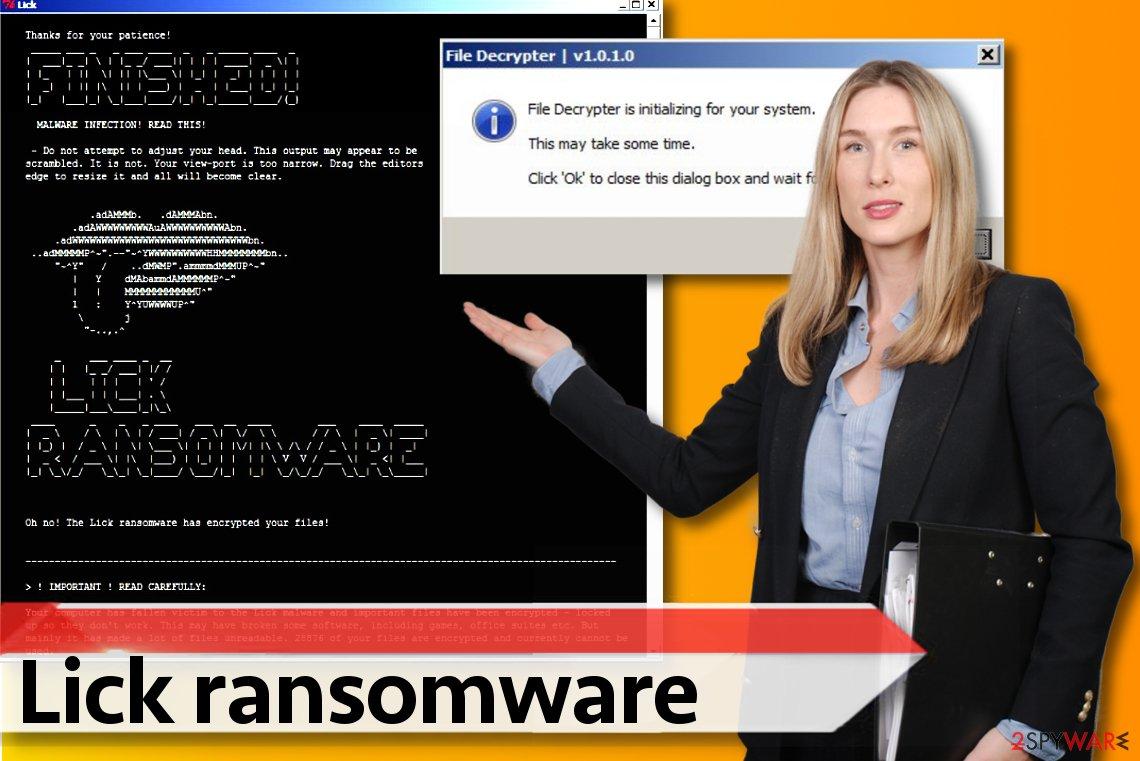 Lick ransomware version