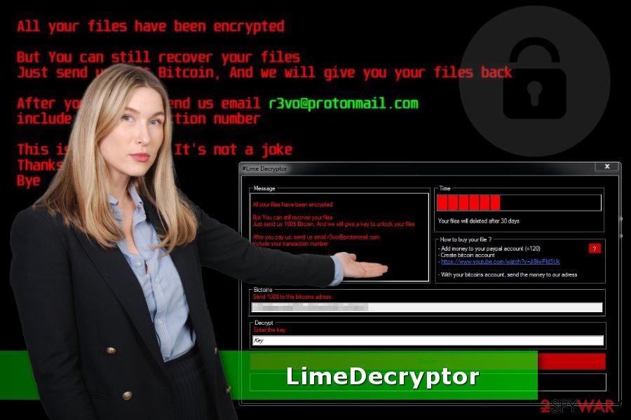 The picture of Lime ransomware virus