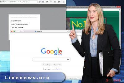 The image of Linenews.org virus