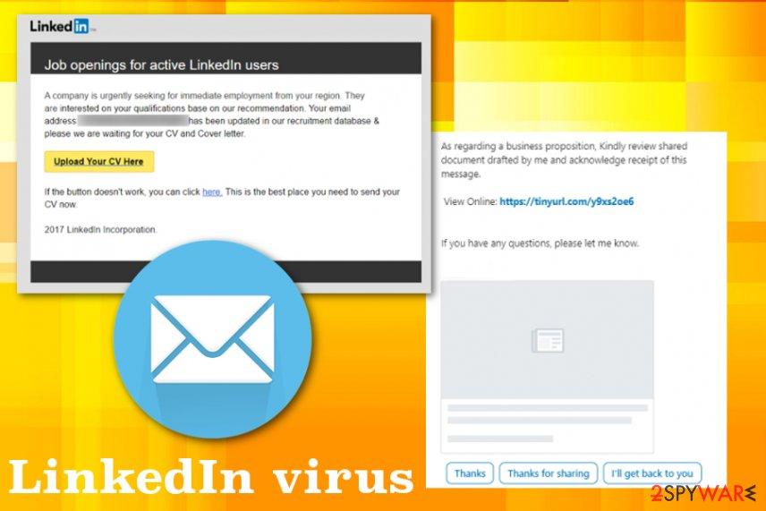 LinkedIn virus malware
