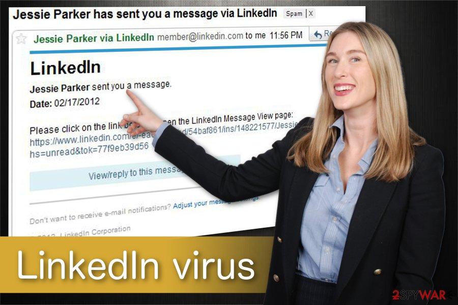 LinkedIn virus illustration