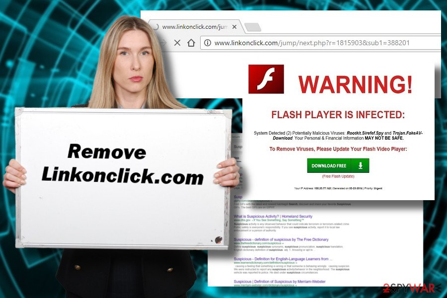 Linkonclick.com is a PUP that can display potentially dangerous content