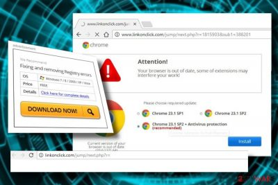 Linkonclick.com takes over web browser's sessions