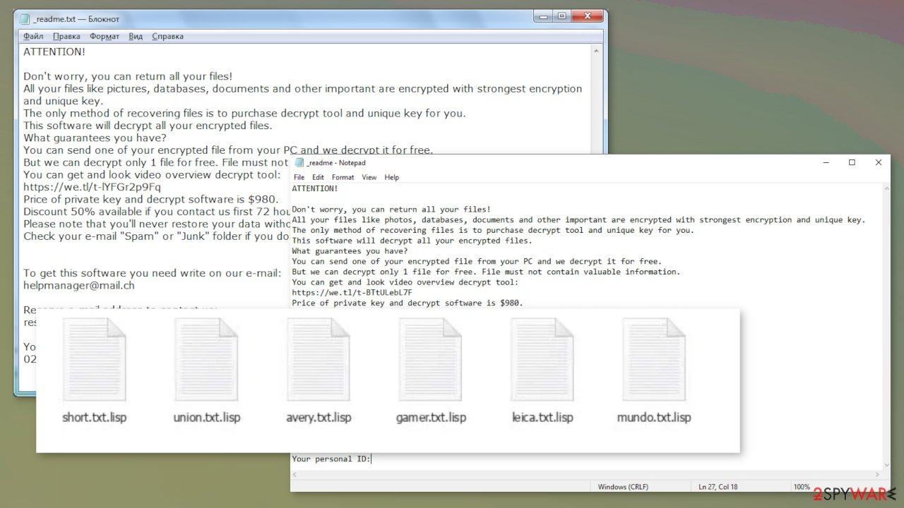 Lisp ransomware virus