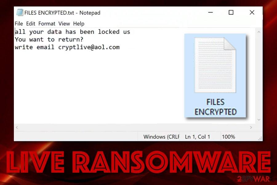 Live malware