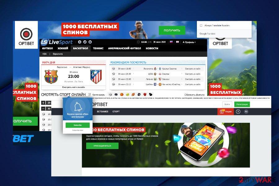 Livesport.ws ads