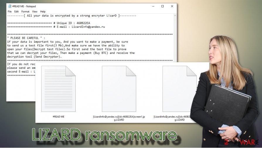 LIZARD ransomware virus