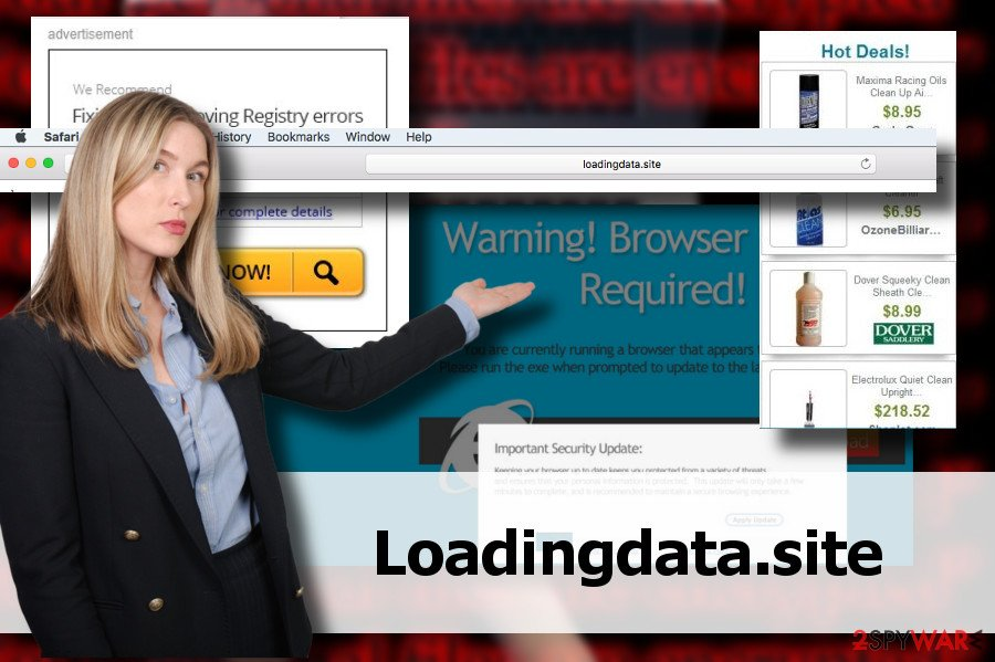 Loadingdata.site pop-up ads