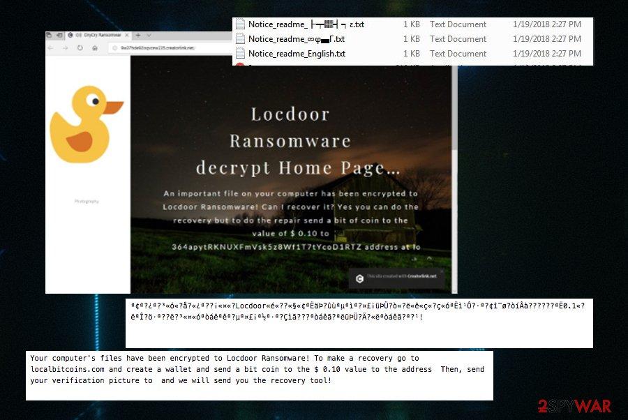 Locdoor/DryCry ransomware