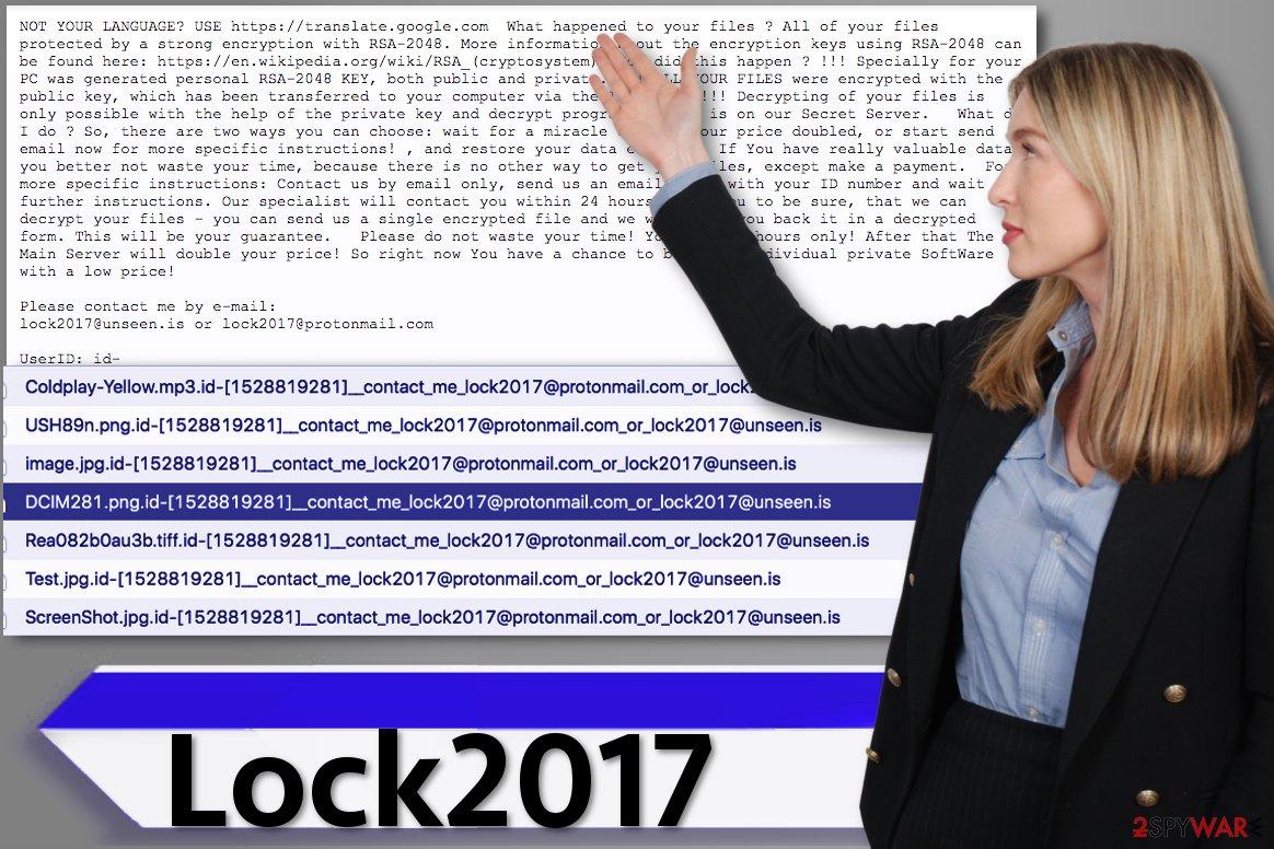 Lock2017 ransomware virus