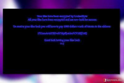 LockedByte virus