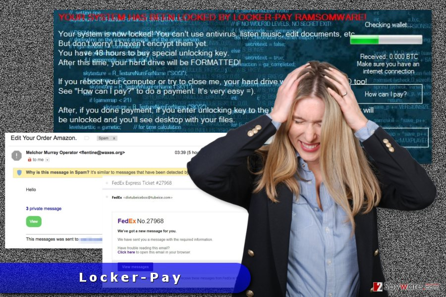 The image of Locker-Pay ransomware virus