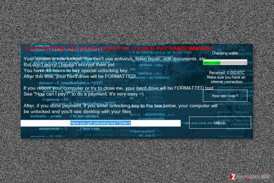 Ransom note by Locker-Pay ransomware virus