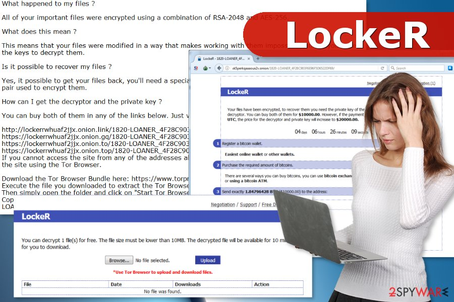 LockeR ransomware virus attack