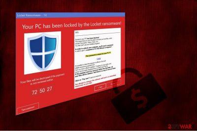 Locket ransomware virus illustration