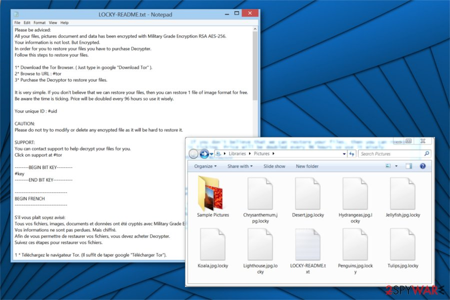 Locky Locker ransomware image