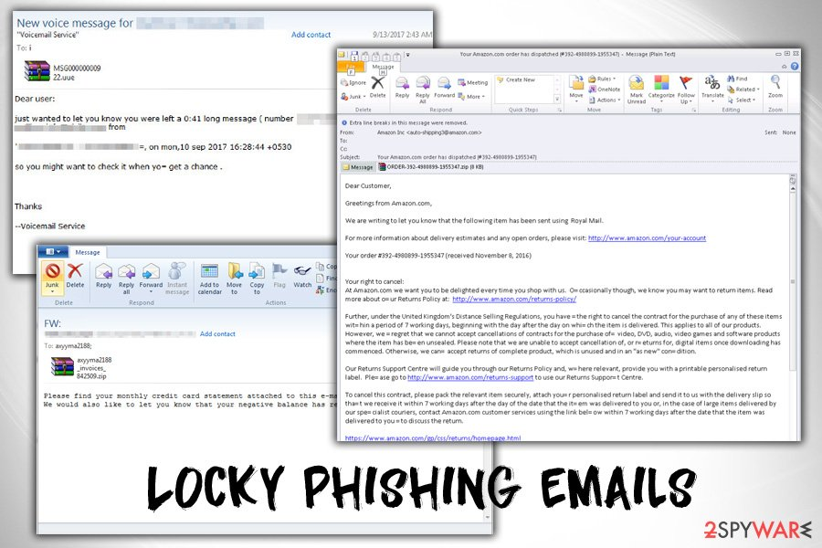 Locky phishing emails