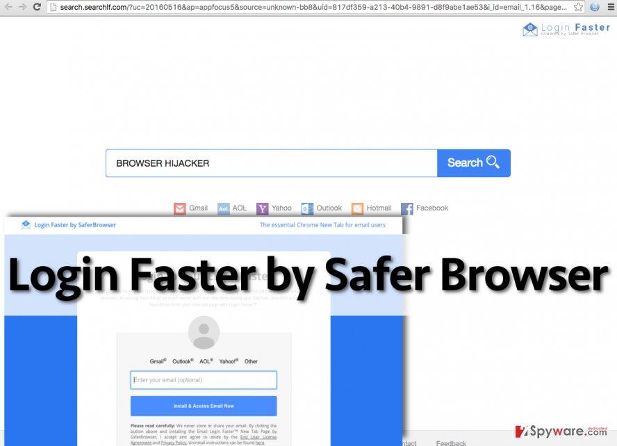 Login Faster by Safer Browser redirect virus