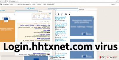 Screenshot of Login.hhtxnet.com virus