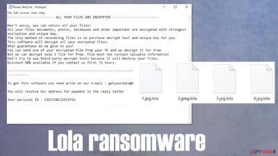 Lola ransomware
