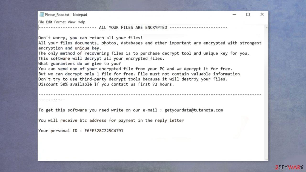 Lola ransomware virus