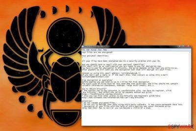 Lolita ransomware virus
