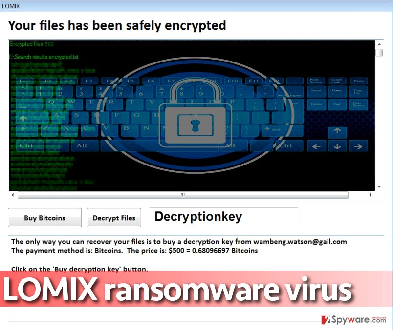 Lomix ransomware wants $500