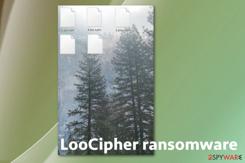 LooCipher ransomware cryptovirus