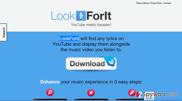 LookForIT ads snapshot