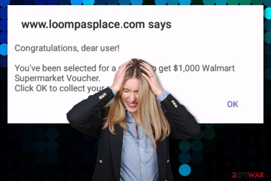 Loompasplace pop-up scam