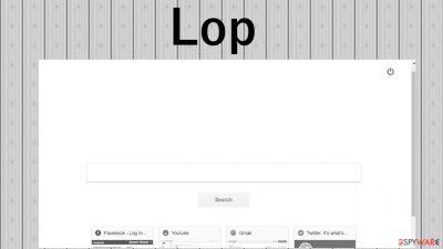 Lop browser hijacker