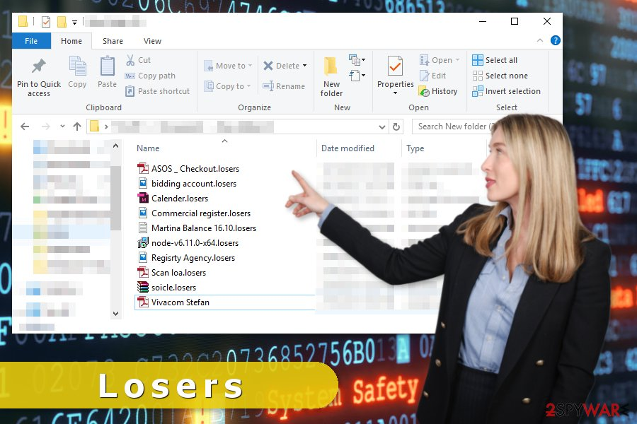 Losers ransomware virus attack