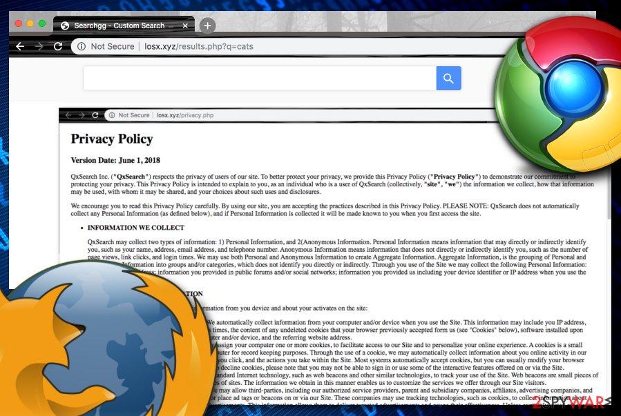 Losx.xyz browser hijacker