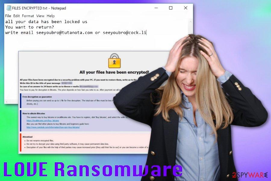 LOVE ransomware virus