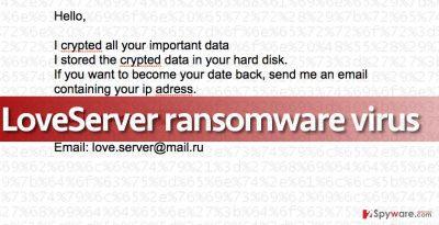 Image of the ransom note that LoveServer virus leaves