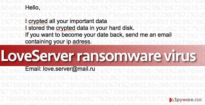 Image of Loveserver ransomware