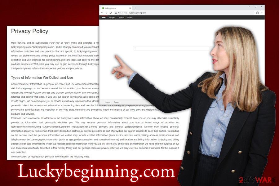 Luckybeginning.com hijack