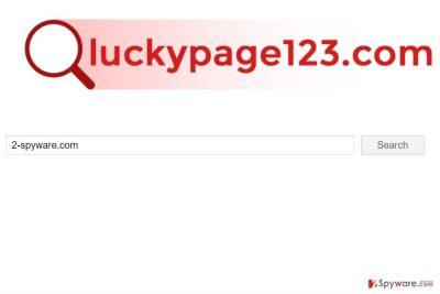 The screenshot of Luckypage123.com