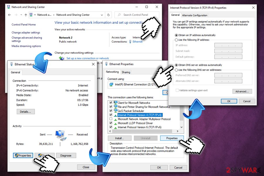 Luckysearches.com - restore DNS settings