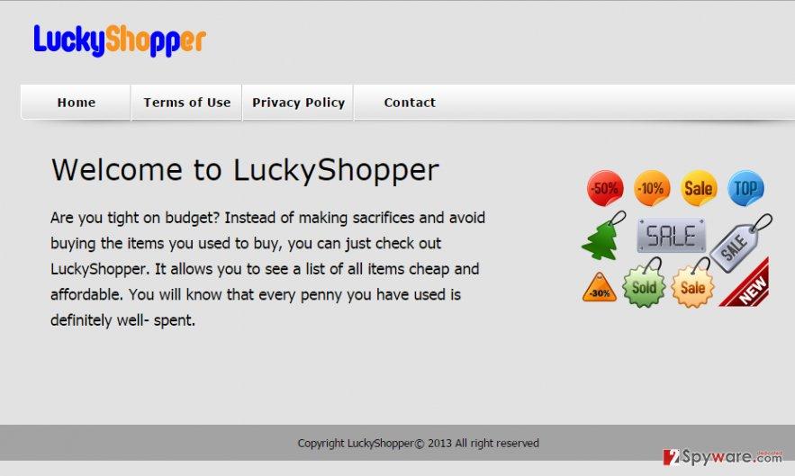 LuckyShopper virus snapshot