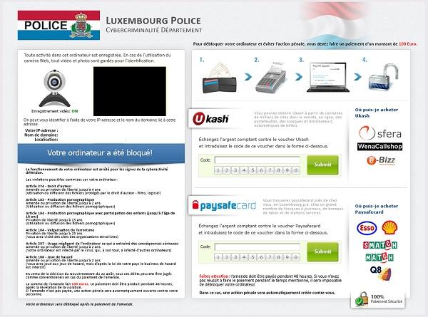 Luxembourg Police virus