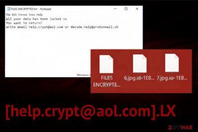 [help.crypt@aol.com].LX ransomware