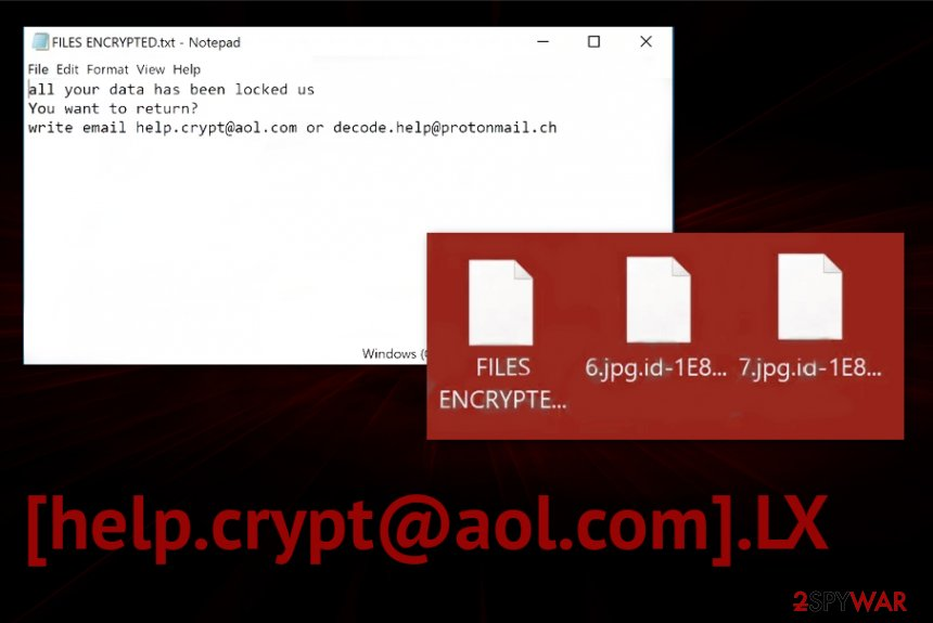 [help.crypt@aol.com].LX ransomware