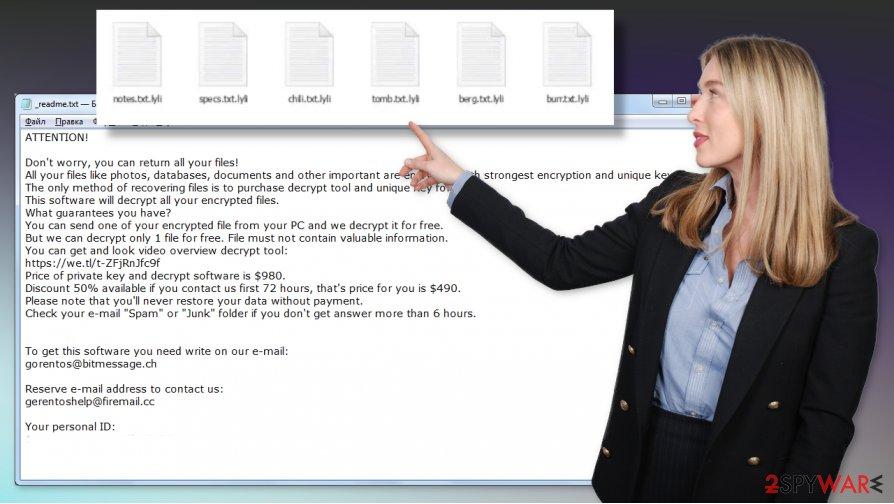 Lyli ransomware virus