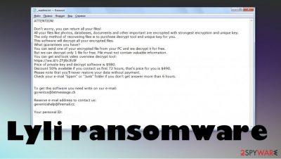 Lyli ransomware