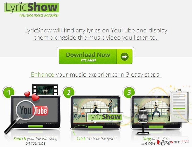 Ads by LyricShow virus snapshot