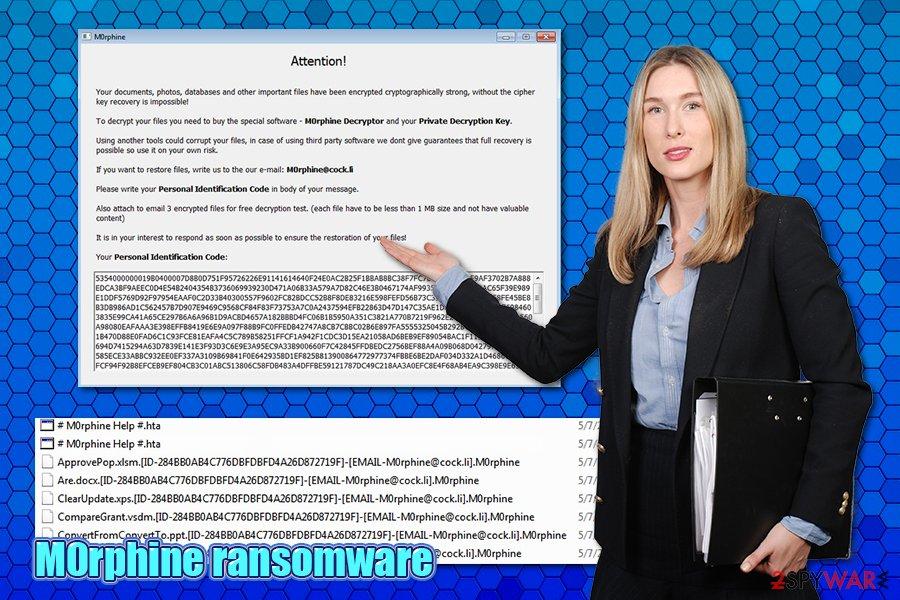 M0rphine ransomware virus