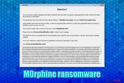 M0rphine ransomware