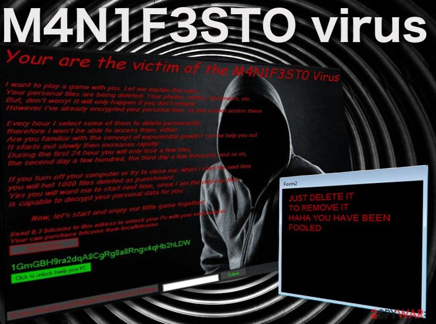 Image of the M4N1F3STO virus